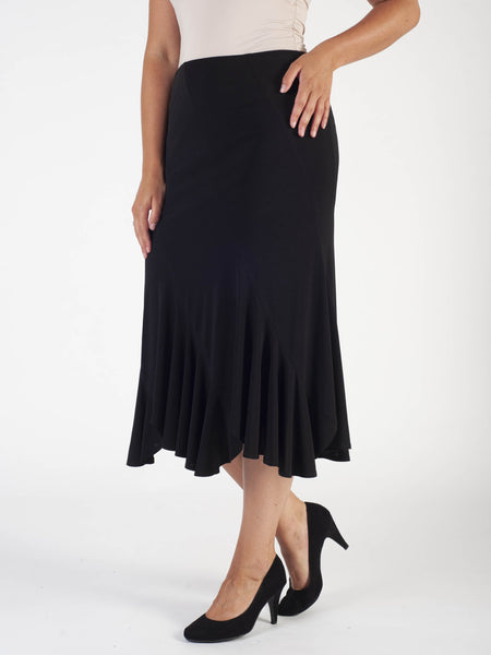 Black Helter Skelter Jersey Skirt