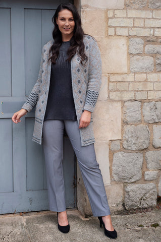 Conrad C Grey Mix Trousers with Zip Detail Pockets