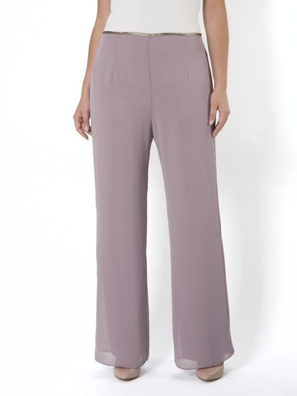 Dark Lavender Chiffon Trouser - PRE-ORDER ONLY 14TH SEPTEMBER