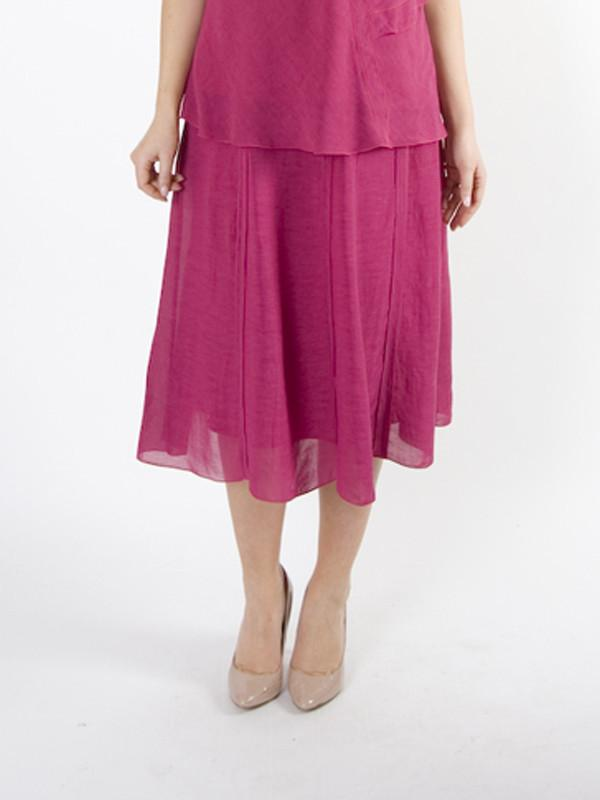 Deep Pink Tiered Skirt