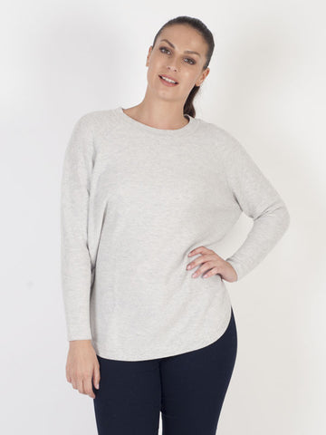Backstage Grey Round Hem Knitted Jumper