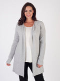 Light Grey Ribbed Edge to Edge Cardigan