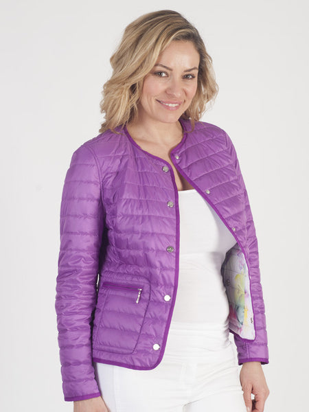 Basler Purple Reversible Quilted Jacket