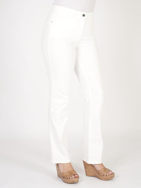 Basler Ivory 'Norma' Straight Jeans