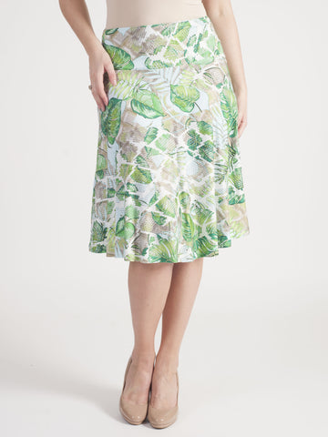 Basler tropical printed Jersey Skirt