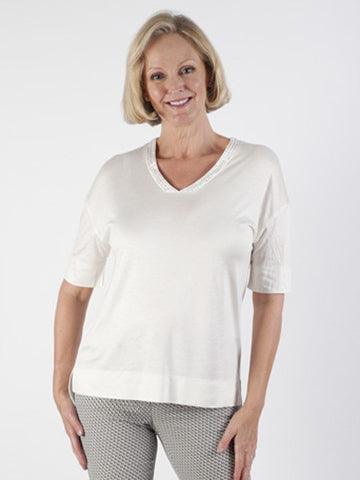 Basler Stud-neck Jersey Top
