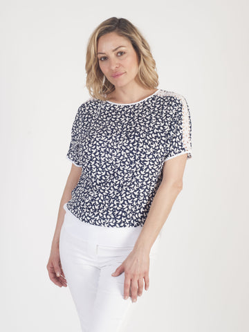 Basler Bird Printed Top