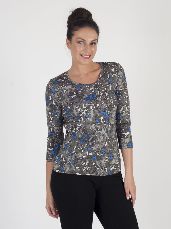 Basler Printed Long Sleeve Jersey Top