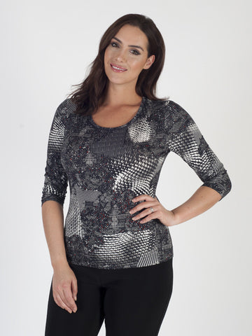 Basler Printed Jersey Top