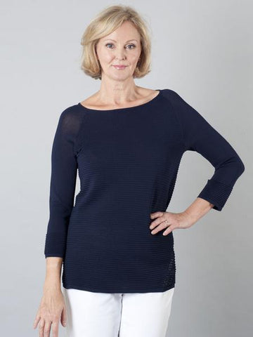 Betty Barclay - Navy Ribbed Knit Jumper