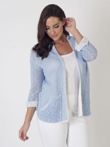 Betty Barclay Lattice-knit Cardigan