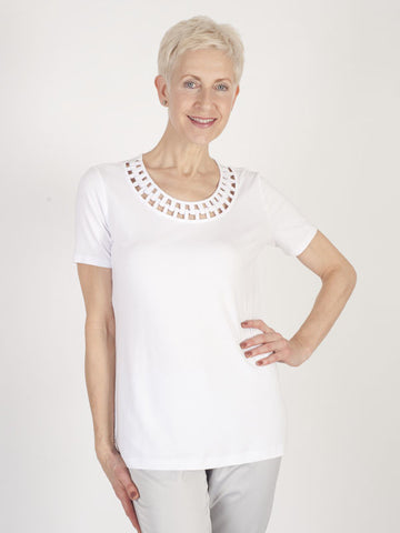 Betty Barclay Jersey Neck Detail Top