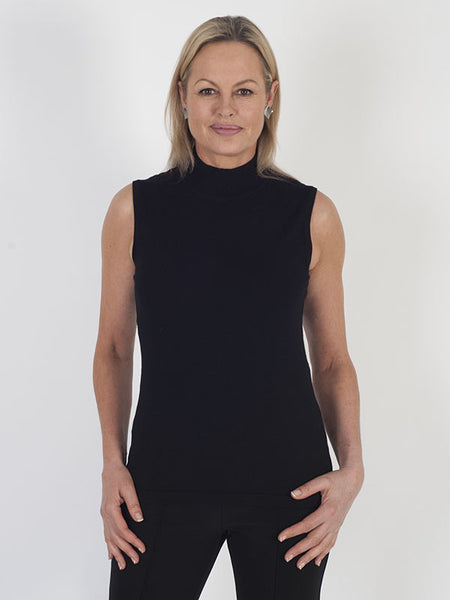 Betty Barclay Turtle-neck Ribbed Collar Tank