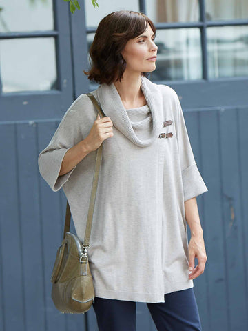 Betty Barclay Taupe Knitted Poncho
