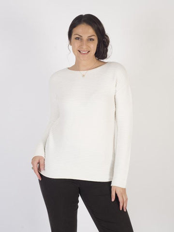 Betty Barclay - Ivory Ribbed Knit Jumper