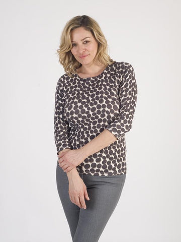 Betty Barclay - Taupe Spot Print Jumper