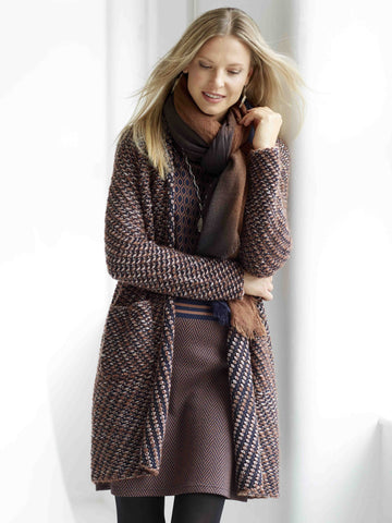 BETTY BARCLAY Multi-knit Coatigan