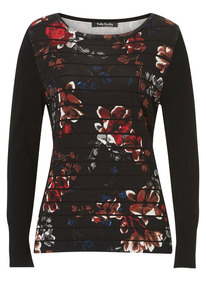 BETTY BARCLAY Floral Stripe Jumper