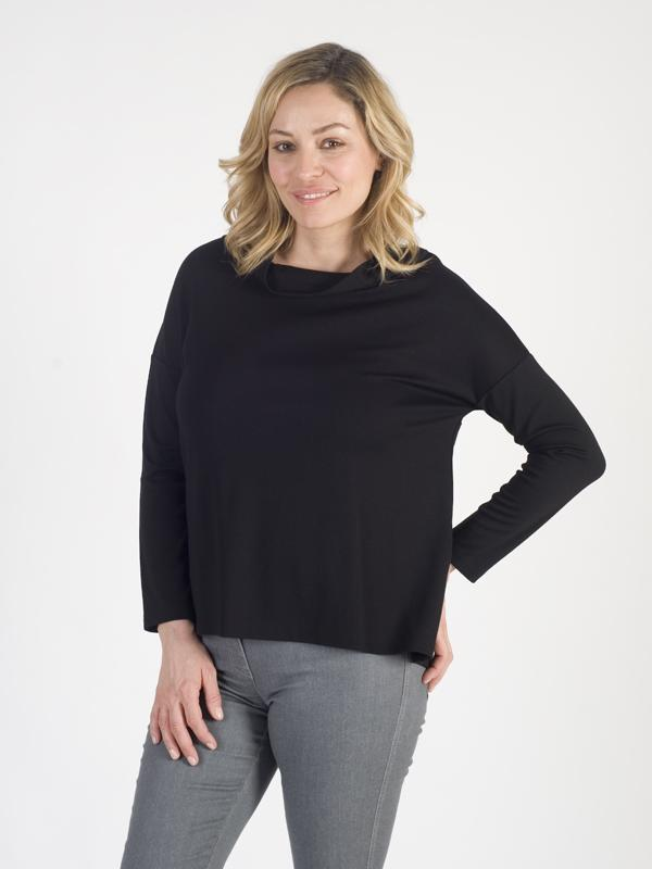 Betty Barclay Black Jersey Cowl Neck Top