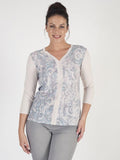 Betty Barclay Beige Paisley Print Top