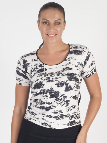 Betty Barclay Navy Abstract Floral T-Shirt
