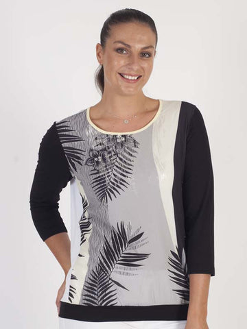 Betty Barclay Palm Print Top