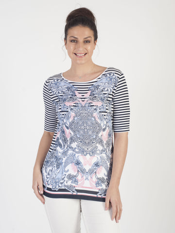 Betty Barclay Navy Printed T-Shirt