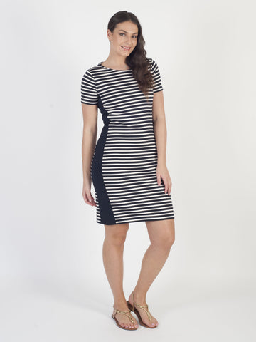 Betty Barclay Navy Stripe Dress