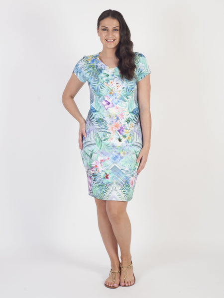 Betty Barclay Green Tropical Floral Print Dress