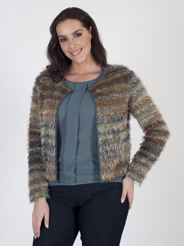 Bianca Eyelash-knit Jacket