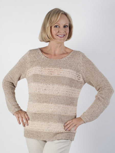 Bianca Textured-stripe Jumper