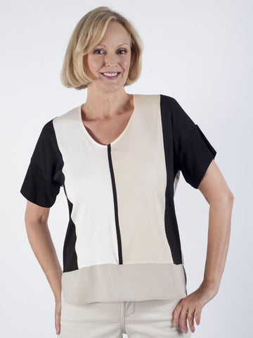 Bianca Colourblock Panelled Top
