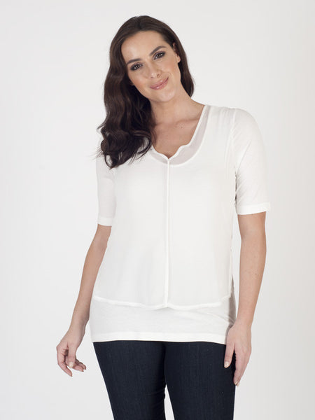 Bianca Layered Chiffon V-neck Top