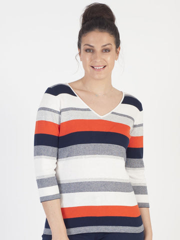Conrad C Knitted Stripe Jumper