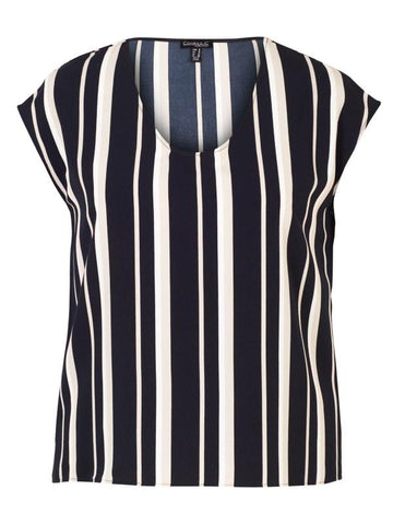Conrad C Tan Stripe Top
