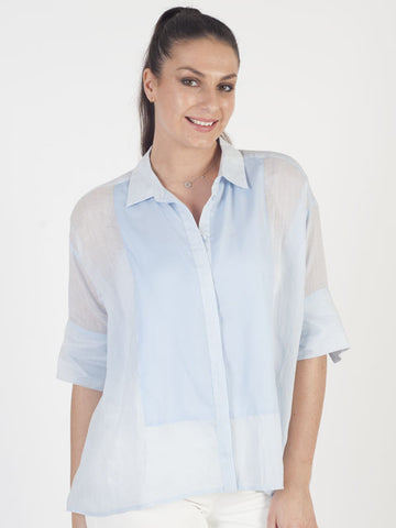 Conrad C Blue Oversized Shirt