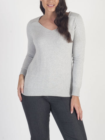 CONRAD C Grey Sparkle-trim Jumper