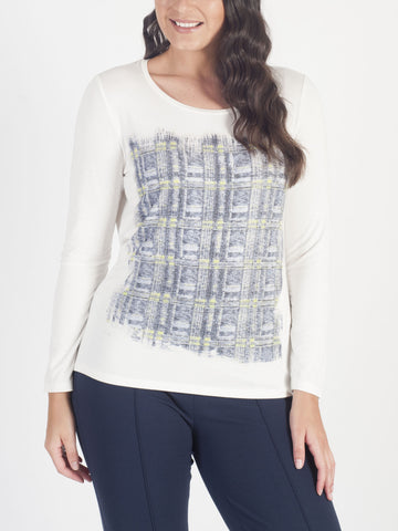 CONRAD C Embellished Jersey Top