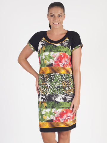 Domina Tropical Print Dress
