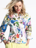 ERFO Ivory/Multi Floral Print Cotton Jacket
