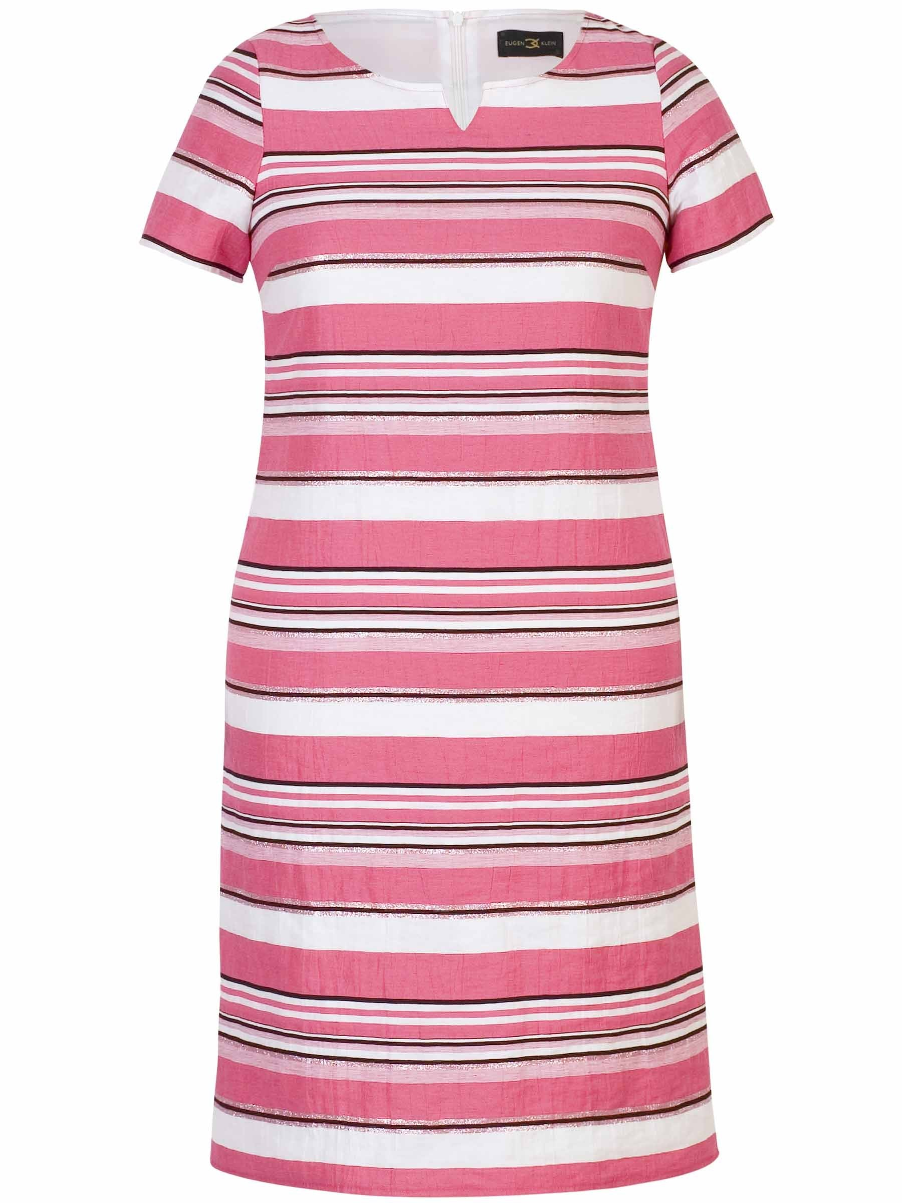 Eugen Klein Pink Linen Stripe Dress