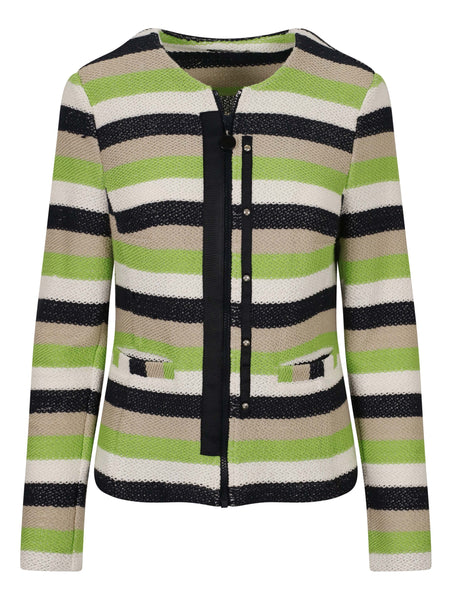 Frank Walder Navy/Lime/Ivory Soft Striped Jacket