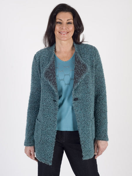 Frank Walder Boucle Knit Cardigan Jacket