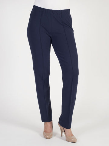 Frank Walder Navy Jersey Pull On Trouser