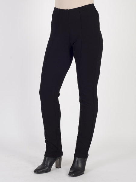 Frank Walder Black Jersey Pull On Trouser