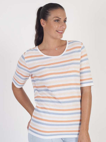 Frank Walder Knitted Stripe Top