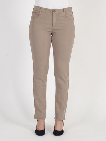 Gardeur Taupe Generous Through Hip and Thigh Jean Shorter