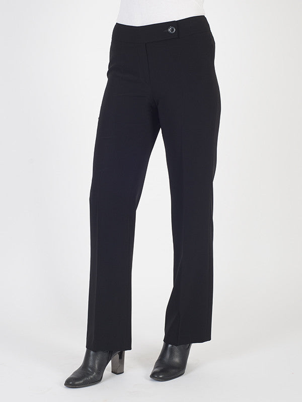 Gardeur Black Smart Straight Leg Trouser
