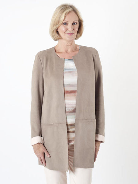 Gerry Weber Sand Mock Suede Jacket