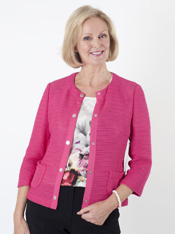 Gerry Weber Pink Textured-knit Jacket